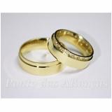 aliança de casamento luxo