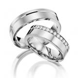 aliança de casamento de ouro branco sob encomenda Aclimação