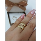 aliança de noivado ouro fina