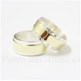 aliança de ouro e prata