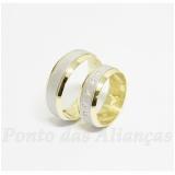 aliança de ouro bodas de prata Aricanduva