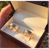 aliança de ouro casamento por encomenda Bom Retiro