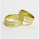 aliança de ouro com coração por encomenda Ermelino Matarazzo