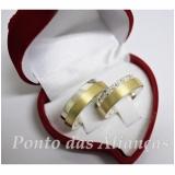 aliança de ouro e prata por encomenda Ponte Rasa