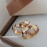 aliança de ouro rose Aricanduva