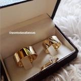 alianças de ouro 18k Trianon Masp