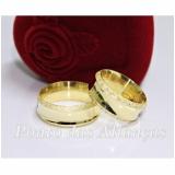 valor da aliança de casamento com pedra Santo André