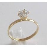 valor da encomenda anel em ouro 18k feminino Mooca