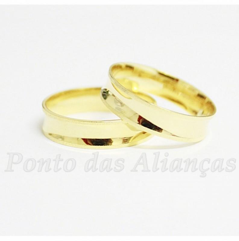 Aliança de Casamento de Ouro sob Encomenda Piqueri - Aliança de Casamento em Ouro