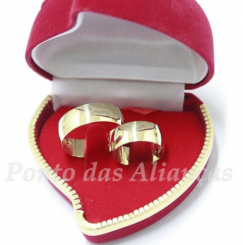 Aliança de Casamento de Ouro Guarulhos - Aliança de Casamento Simples