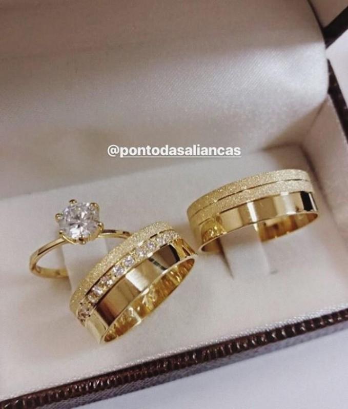 Aliança de Casamento em Ouro sob Encomenda Belenzinho - Aliança de Casamento em Ouro