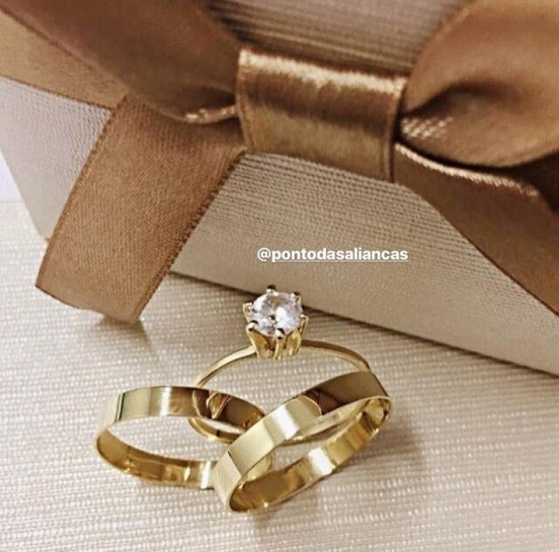 Aliança de Casamento Fina sob Encomenda Luz - Aliança de Casamento Simples