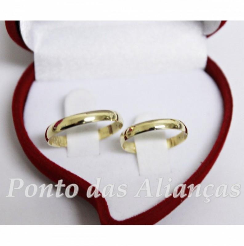 Aliança de Casamento Fina Vila Buarque - Aliança de Casamento de Ouro Branco