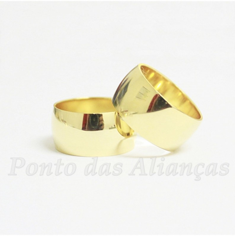 Aliança de Casamento Grossa Parque Santa Madalena - Aliança de Casamento Ouro Branco