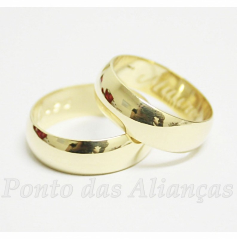 Aliança de Casamento Lisa sob Encomenda Vila Matilde - Aliança de Casamento de Ouro