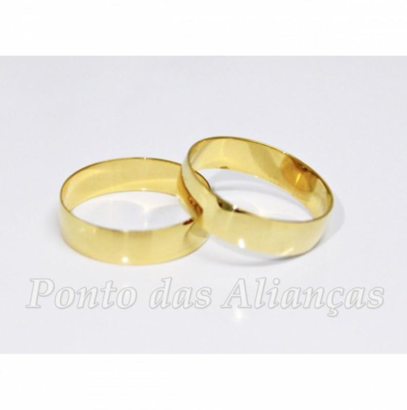 Aliança de Casamento Lisa Roosevelt (CBTU) - Aliança de Casamento Ouro Branco