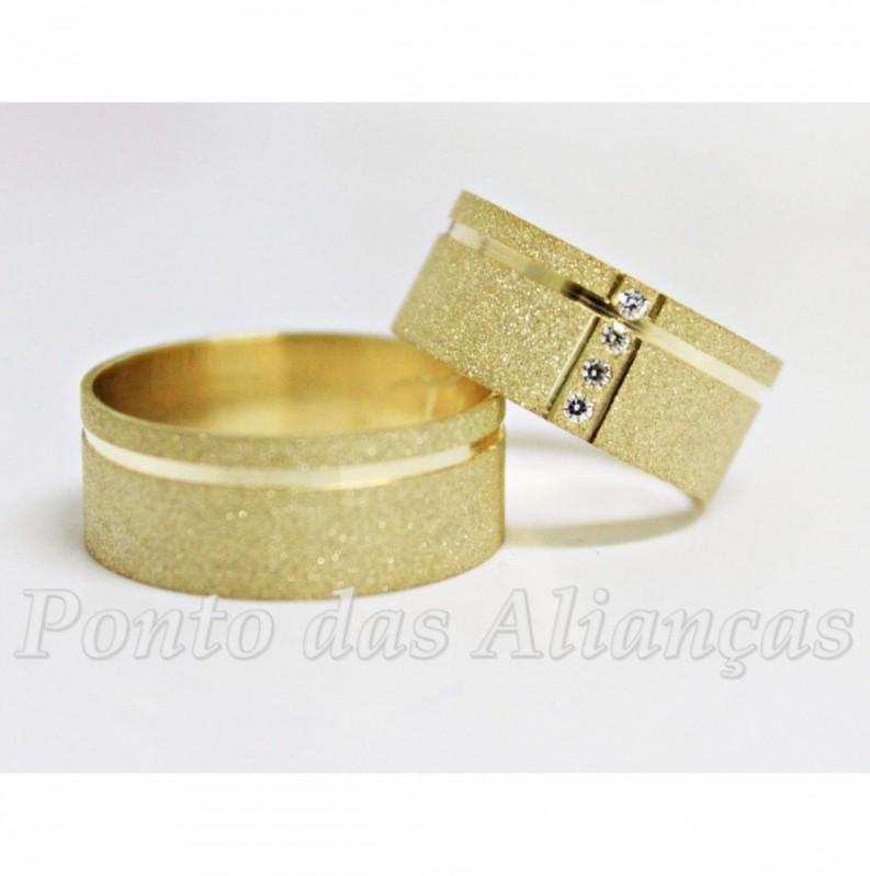 Aliança de Casamento Luxo sob Encomenda Glicério - Aliança de Casamento de Ouro
