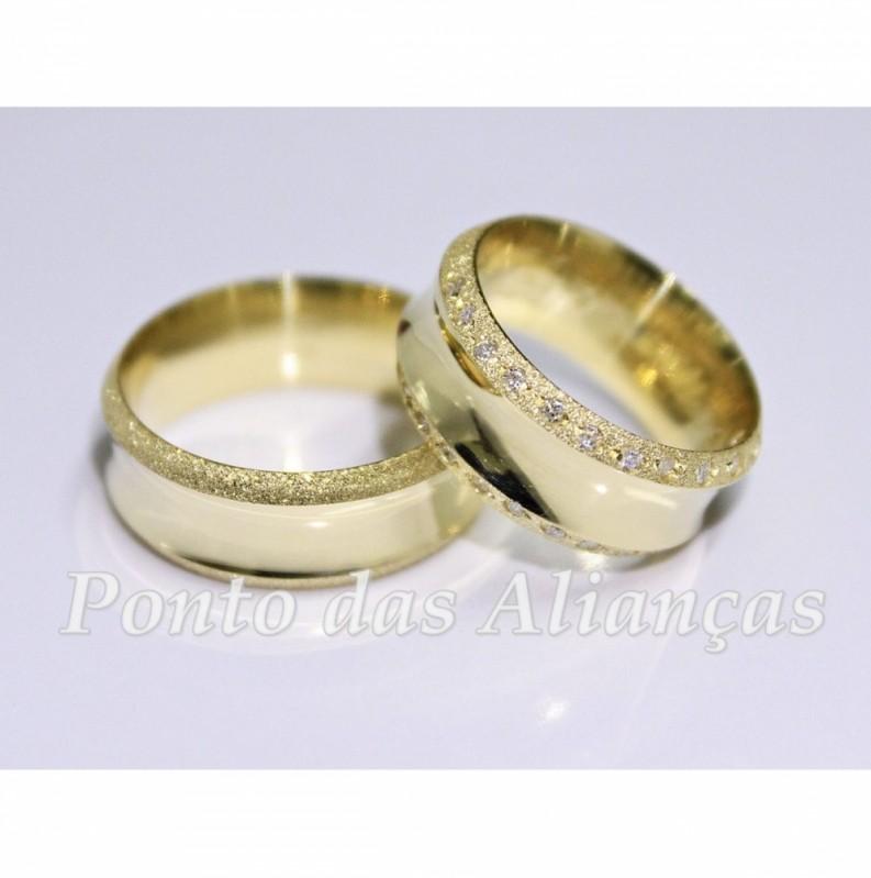 Aliança de Casamento Luxo Glicério - Aliança de Casamento em Ouro