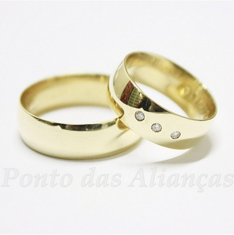 Aliança de Casamento Simples sob Encomenda Vila Dalila - Aliança de Casamento Simples