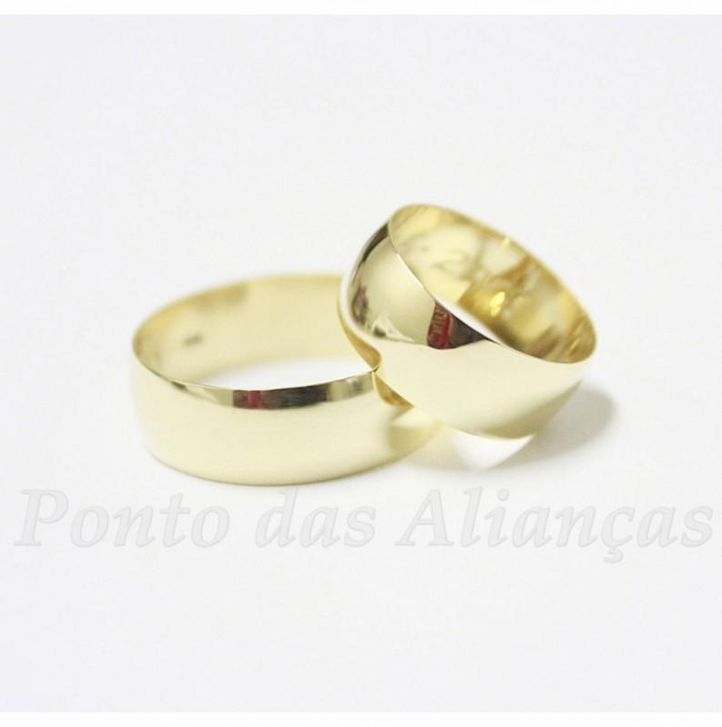 Aliança de Casamento Tradicional Roosevelt (CBTU) - Aliança de Casamento em Ouro