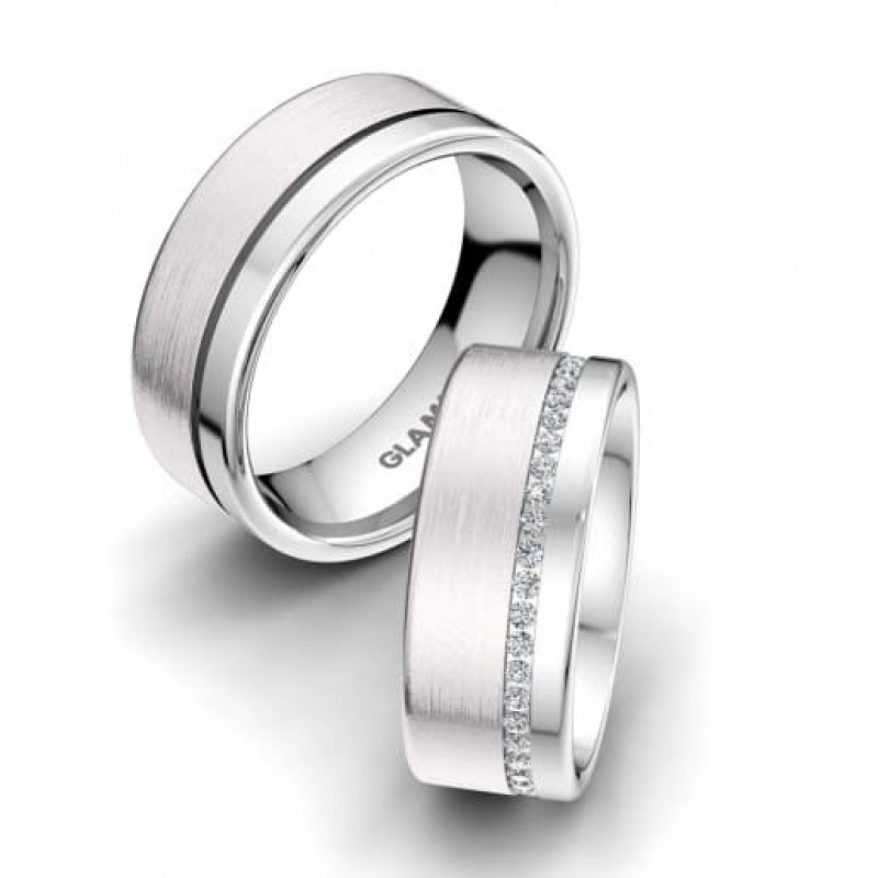 Alianças de Casamento de Ouro Branco Vila Formosa - Aliança de Casamento em Ouro