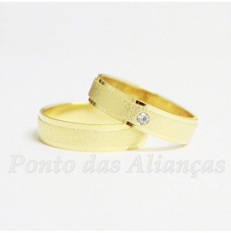 Alianças de Casamento de Ouro Roosevelt (CBTU) - Aliança de Casamento de Ouro Branco