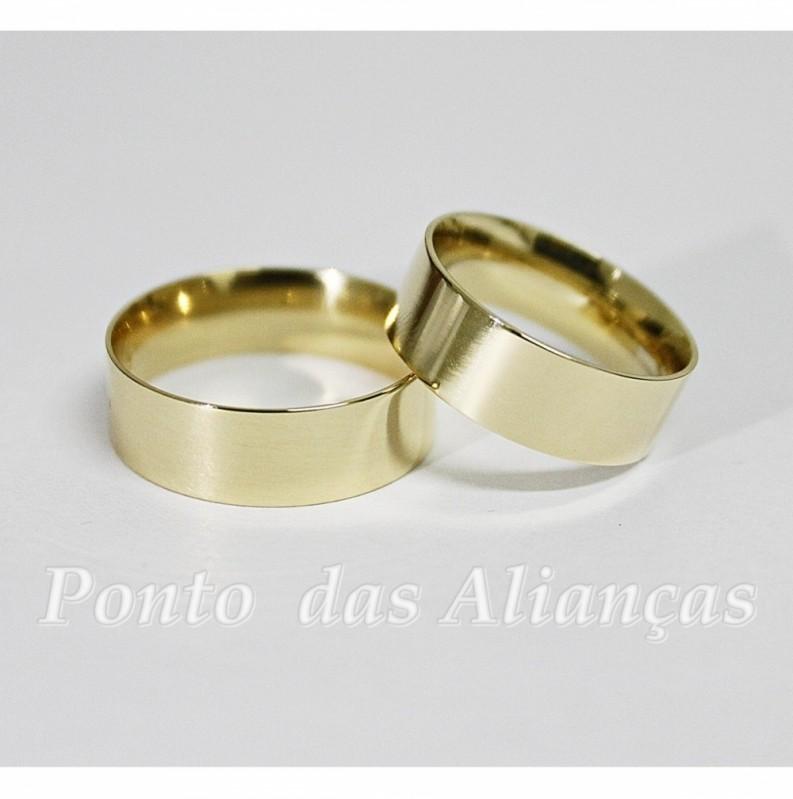 Alianças de Casamento em Ouro Guarulhos - Aliança de Casamento Ouro Branco