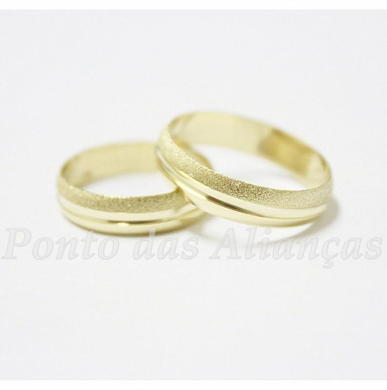 Alianças de Casamento Fina Sapopemba - Aliança de Casamento Lisa