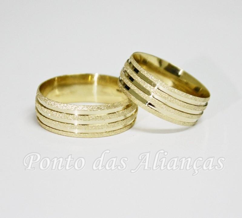 Alianças de Casamento Moderna Bom Retiro - Aliança de Casamento em Ouro
