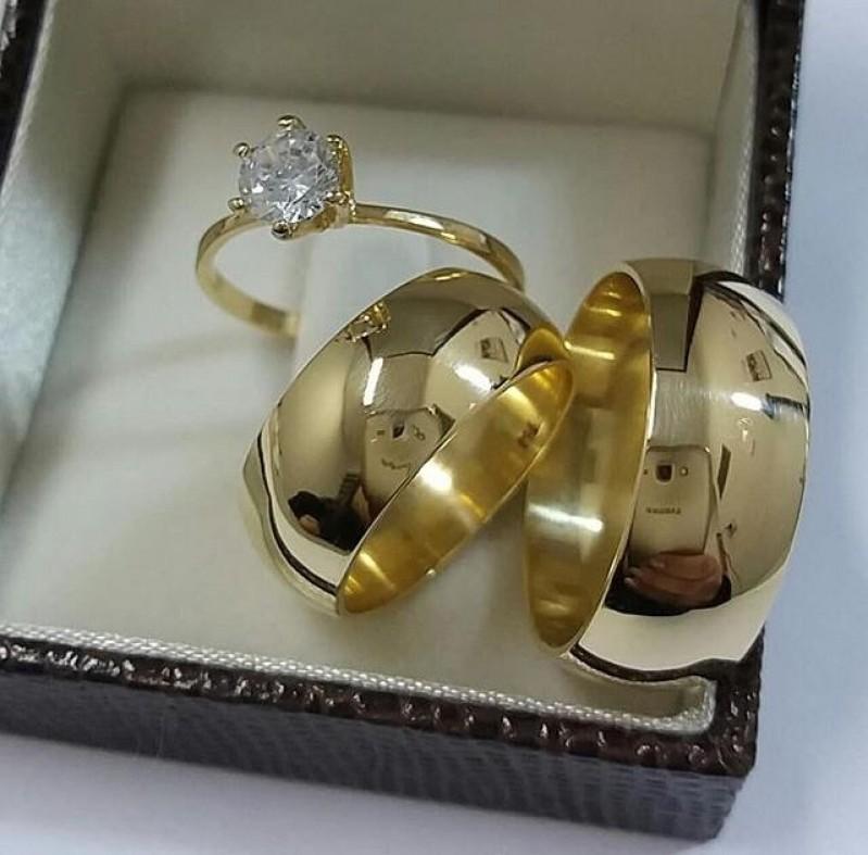 Alianças de Casamento Tradicional Pirambóia - Aliança de Casamento Lisa