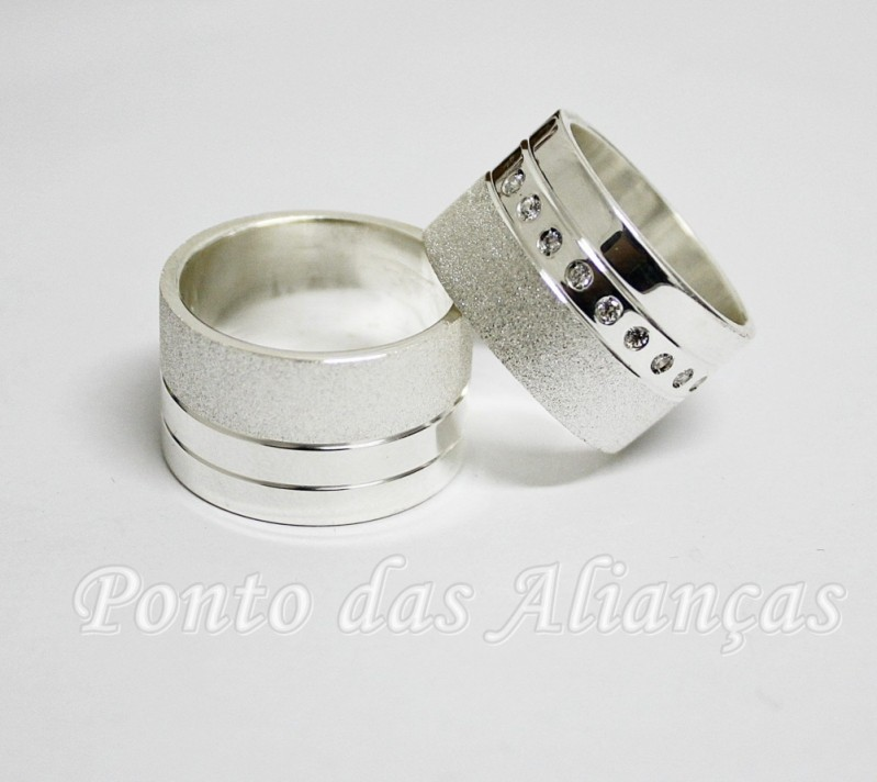 Alianças de Compromisso Prata Valor Itaim Paulista - Alianças de Compromisso Modernas