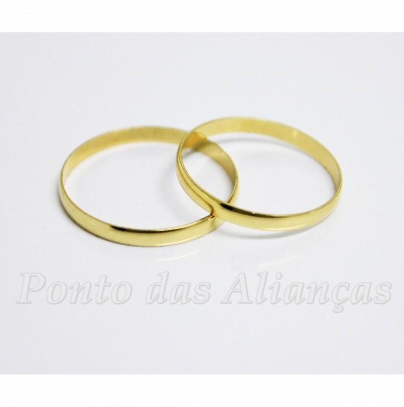 Alianças de Noivado Ouro Fina Jd São João - Aliança de Noivado Fina