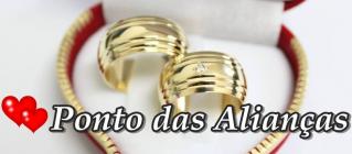 Aliança de Compromisso Simples Jardim Iguatemi - Alianças de Compromisso com Nome Gravado - Ponto das Alianças
