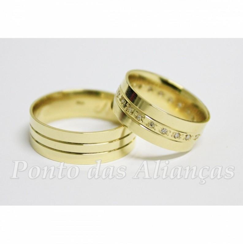 Onde Comprar Aliança de Casamento com Pedra Sapopemba - Aliança de Casamento Lisa