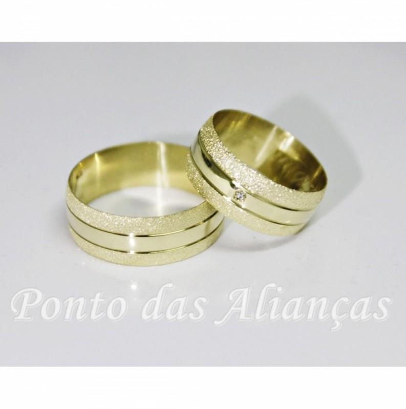 Onde Comprar Aliança de Casamento em Ouro Sé - Aliança de Casamento de Ouro Branco