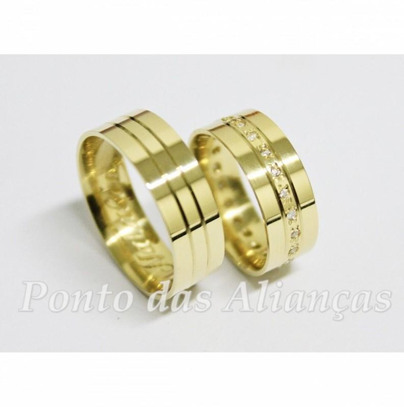 Onde Comprar Aliança de Casamento Luxo Ermelino Matarazzo - Aliança de Casamento de Ouro