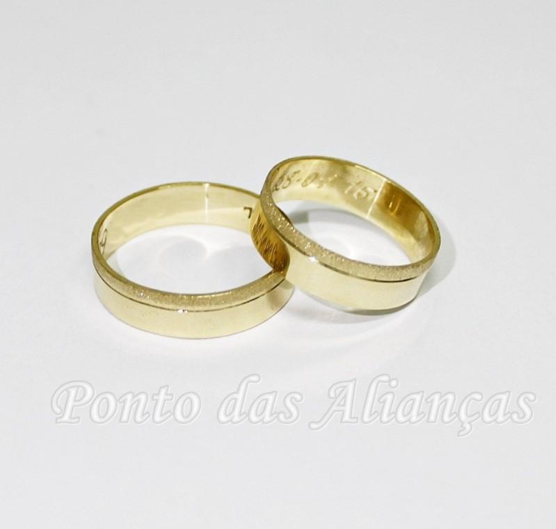 Onde Comprar Aliança de Casamento Simples Jd da Conquista - Aliança de Casamento de Ouro