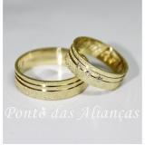 aliança de casamento com pedra Vila Esperança