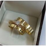 aliança de casamento em ouro Engenheiro Goulart