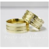 aliança de casamento grossa sob encomenda Vila Esperança