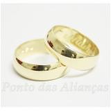 aliança de casamento lisa sob encomenda Diadema