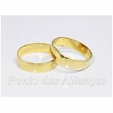 aliança de casamento lisa Aricanduva