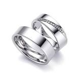 aliança de noivado de ouro branco