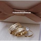 aliança de noivado ouro 18k