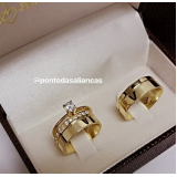 aliança de noivado com pedrinha José Bonifácio