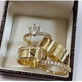 aliança de ouro de noivado
