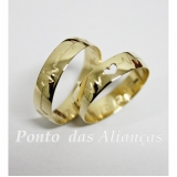 aliança de ouro com coração Bela Vista