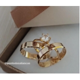 aliança de ouro de noivado por encomenda Pari