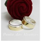 aliança de ouro e prata Consolação