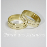alianças de ouro com coração Vila Matilde